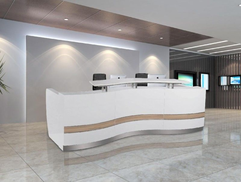 Fabulous office reception area decor ideas with recessed for Bureau reception
