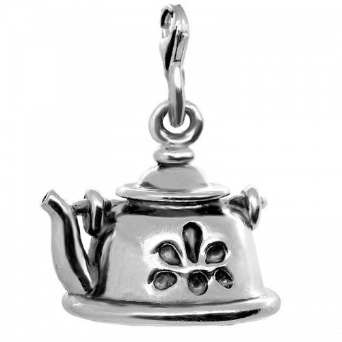 подвеска чарм чайник ledile кулон шарм серебряные подвески ручная работа charm bracelet