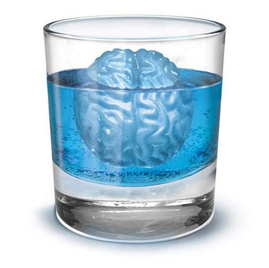 FISH BONES ICE CUBE FUNNY TRAY MOULD MOLD DRINK SILICONE BLUE KITCHEN NEW