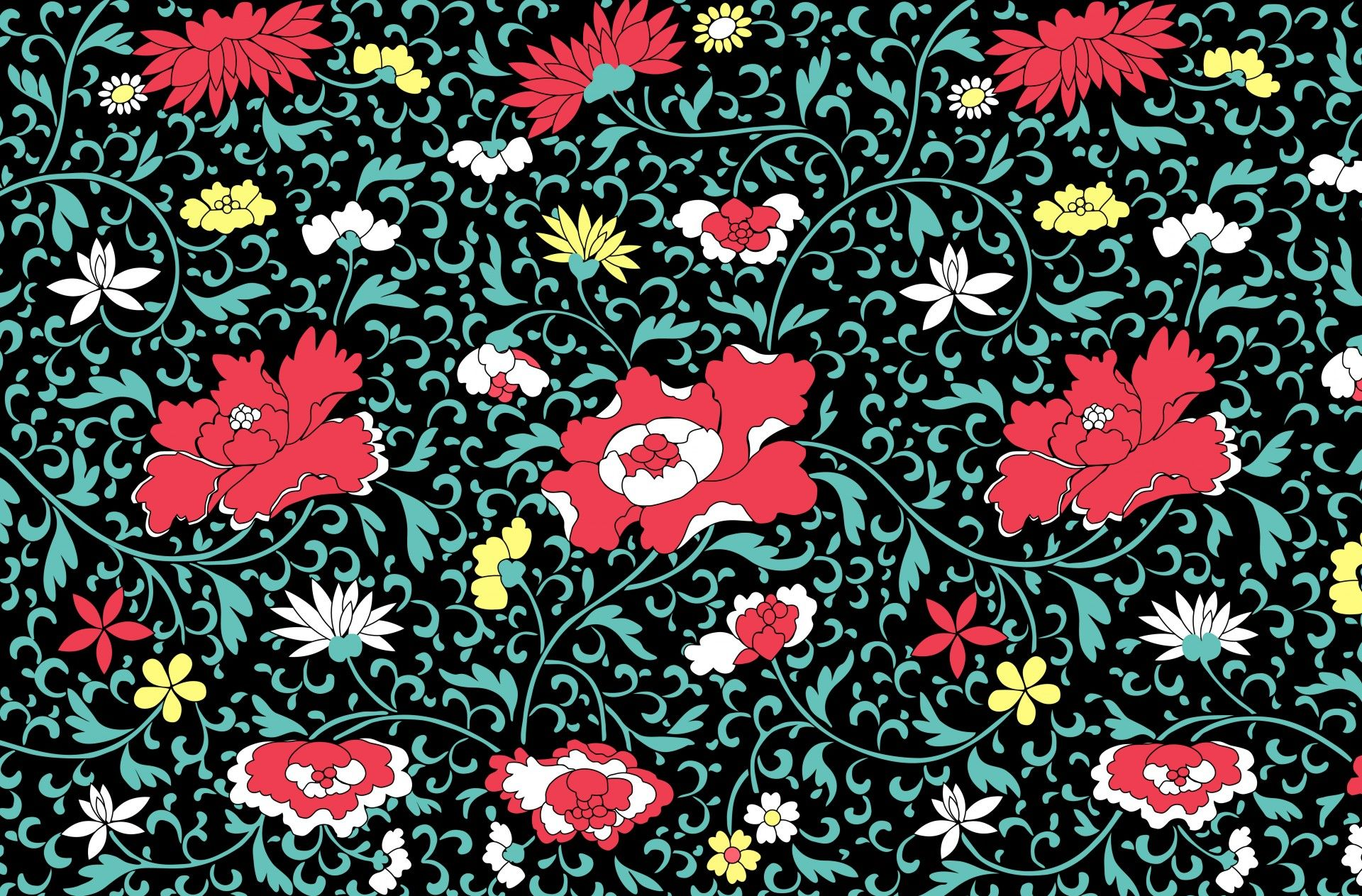 Vintage floral wallpaper background Allover Pinterest