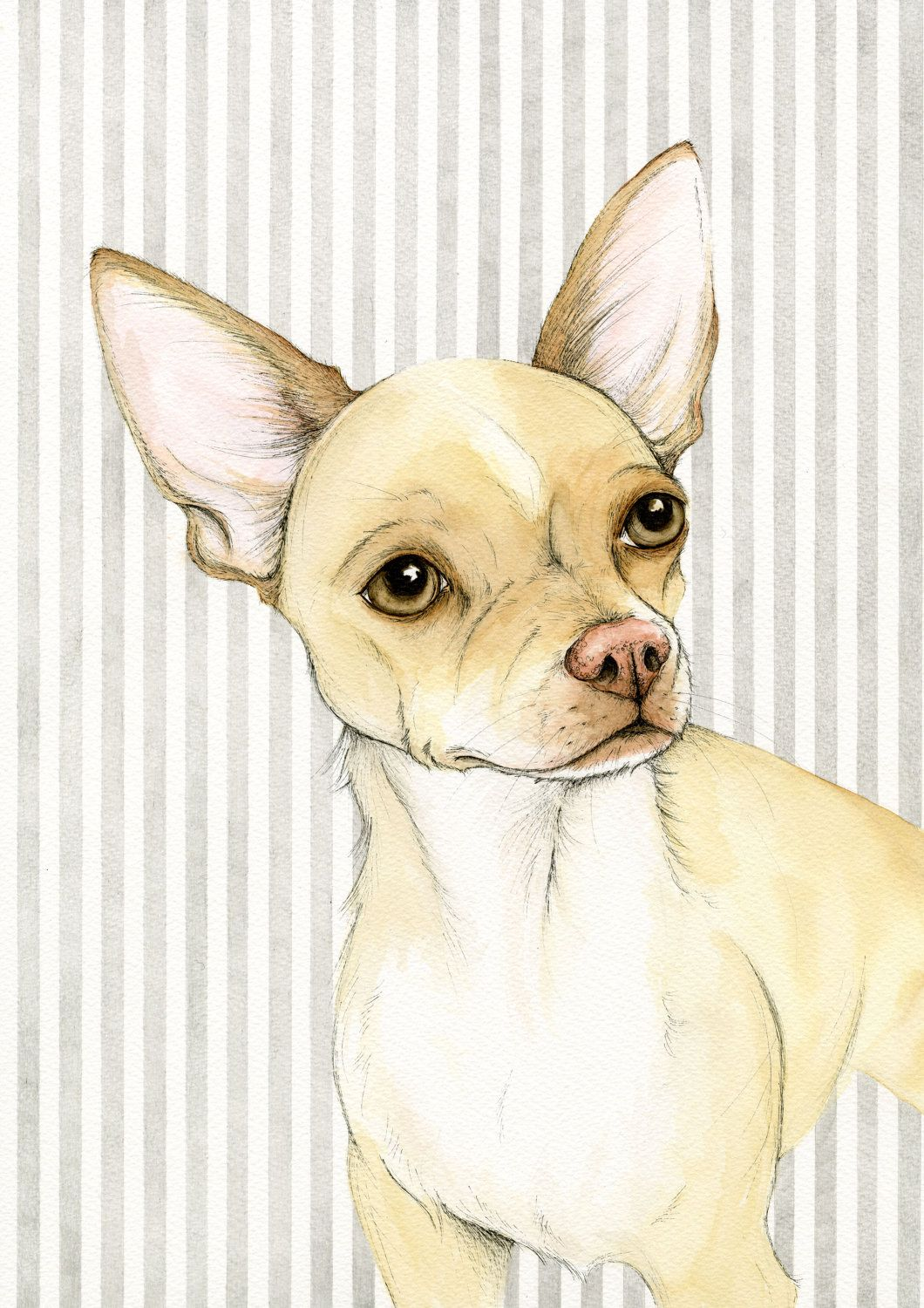 Sweet Wallpapers For Iphone Chihuahua Art Watercolour Painting Chihuahua Print Pet