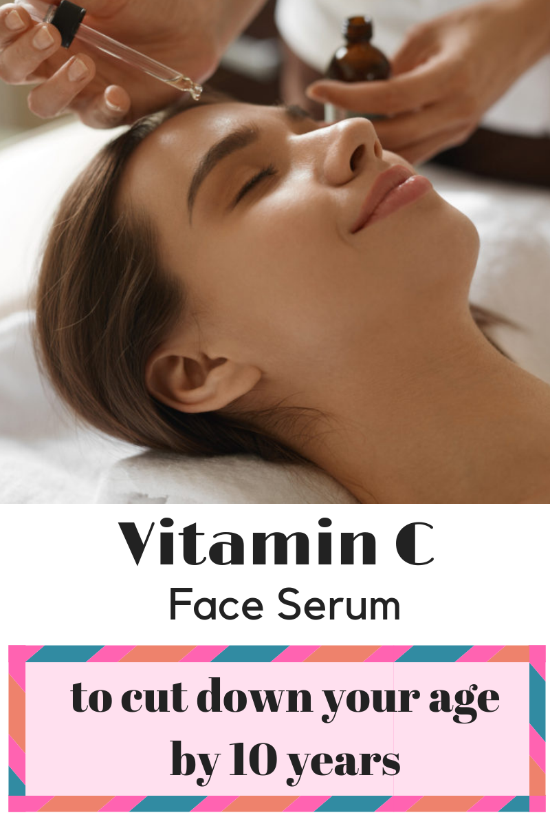vitamin c face serum to get flawless younger looking skin in just a few days of time #skin #skincare #glow #beauty #diy #fairskin #AntiAgingFaceSerum #faceserum