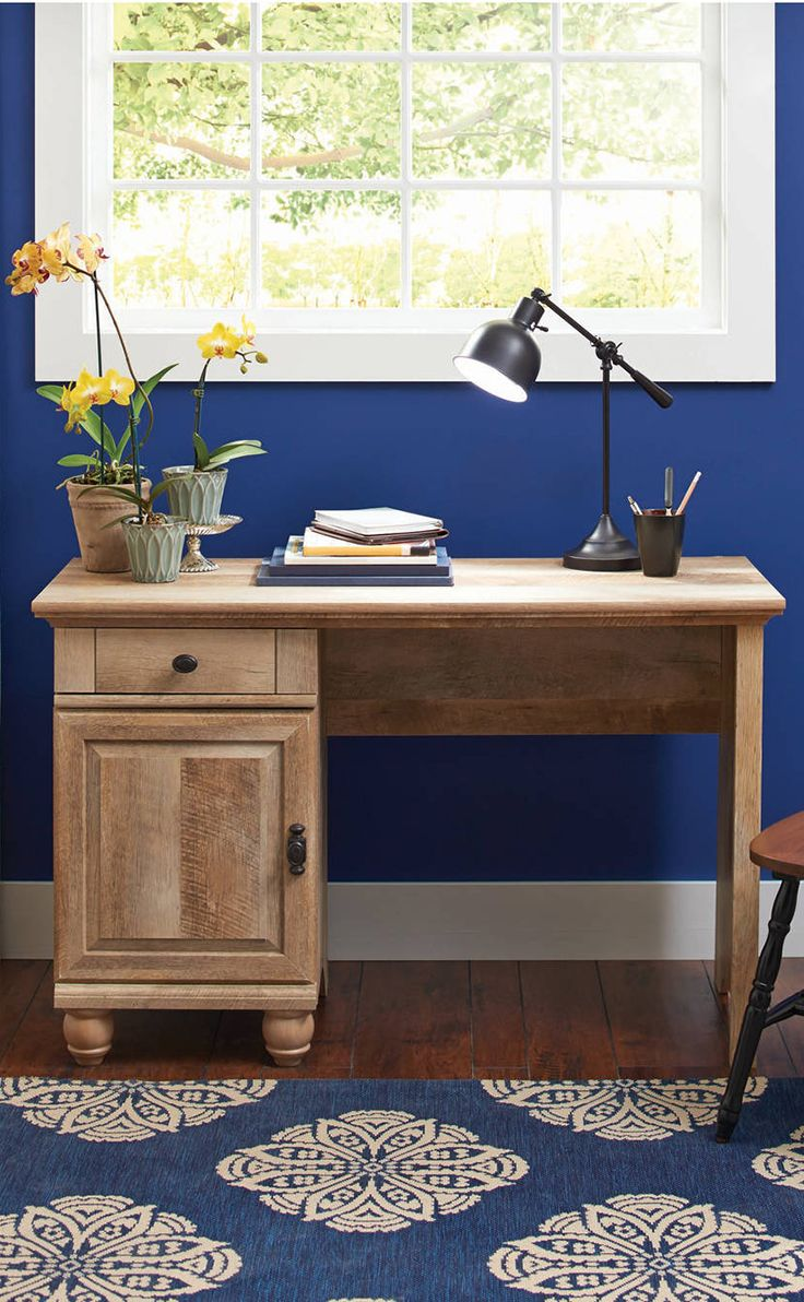 Better Homes Gardens Crossmill Desk Weathered Finish Walmart Com Country Style Desk Innovative Furniture Creative Kids Rooms