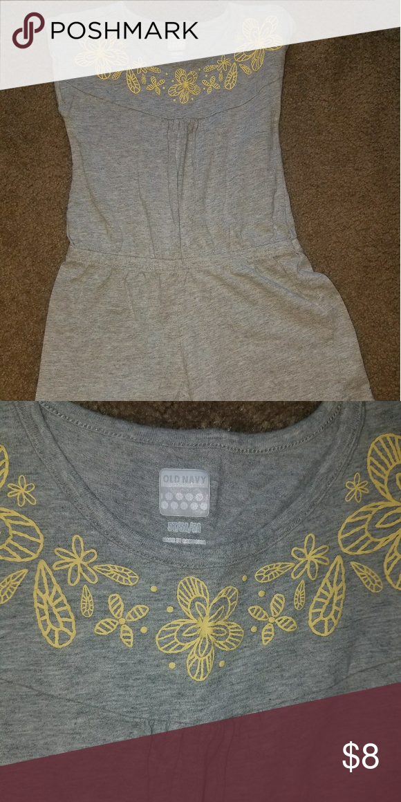 cf49baa32f04 5t romper Size 5t gray romper with yellow on the top detail. Excellent  condition Old Navy One Pieces