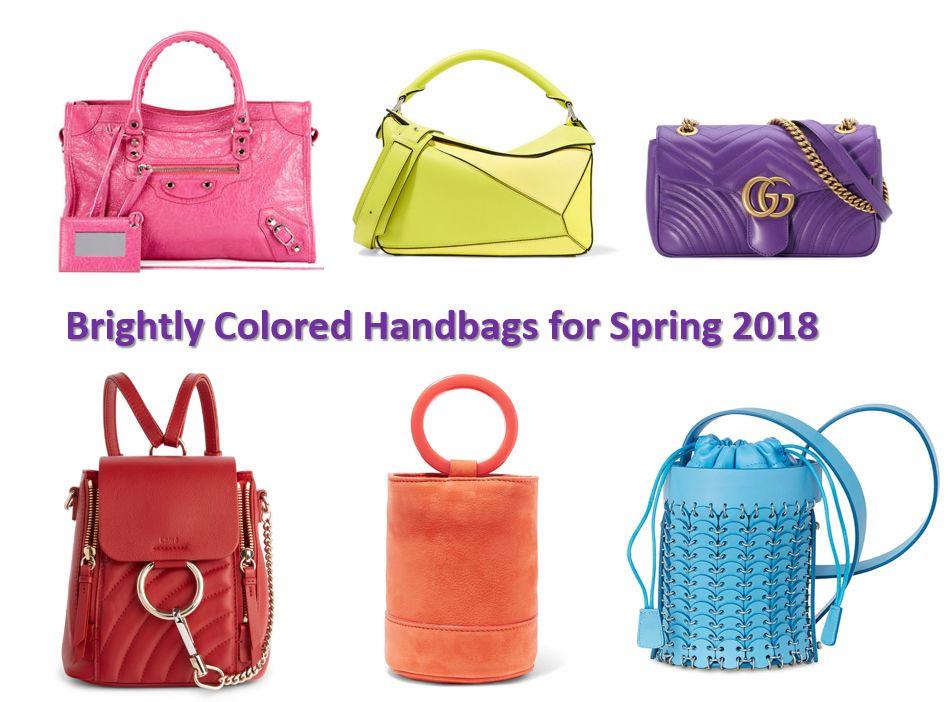 941e6b8123c7 Bright handbags for spring 2018. Click through to learn more.  handbags   handbagtrends  springbags