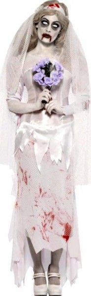 maquillage halloween zombie mariee