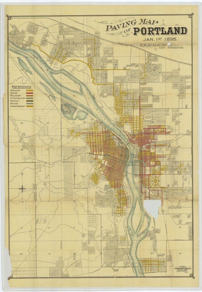 old portland map | Cool Maps | Portland map, Map, Portland
