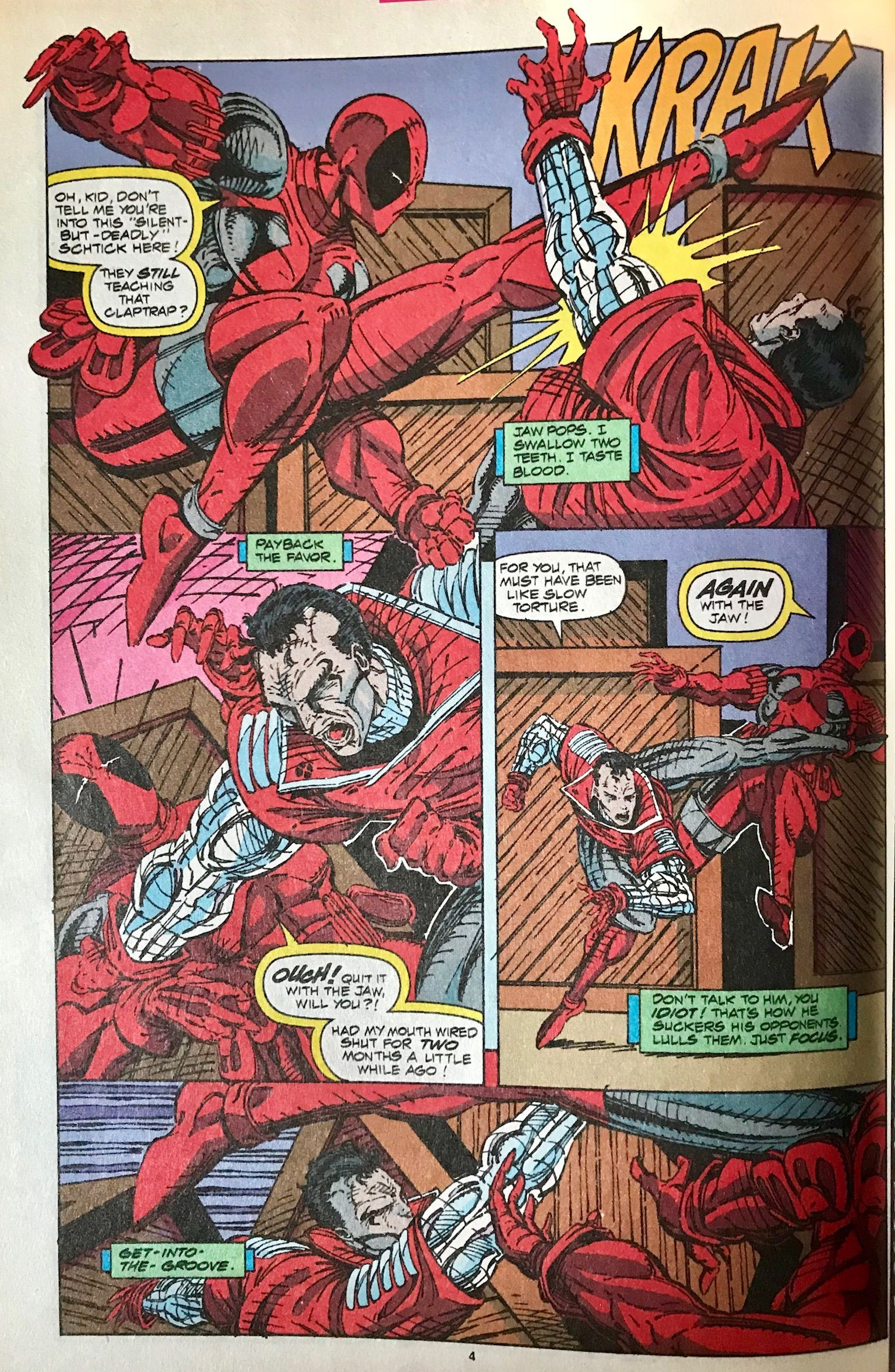 Deadpool vs Kane by Rob Liefeld and Brad Vancata 1991 | WHO? VS WHO ...