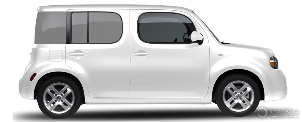 Vehicle wrap design template before the graphics design overlay ...