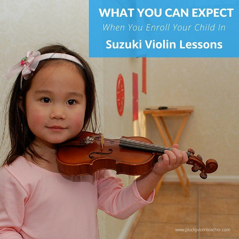 What to Expect When You Enroll Your Child In Suzuki Violin Lessons...