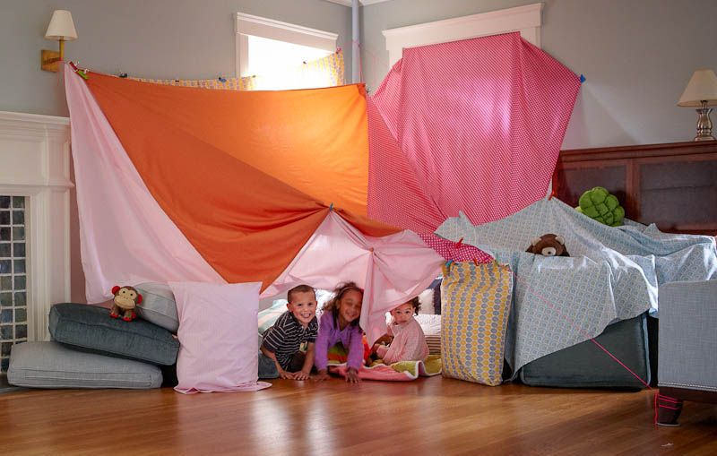 Living Room Fort The Adventure Of Growing Up Living Room Fort Blanket Fort Discovery Kids Construction Fort