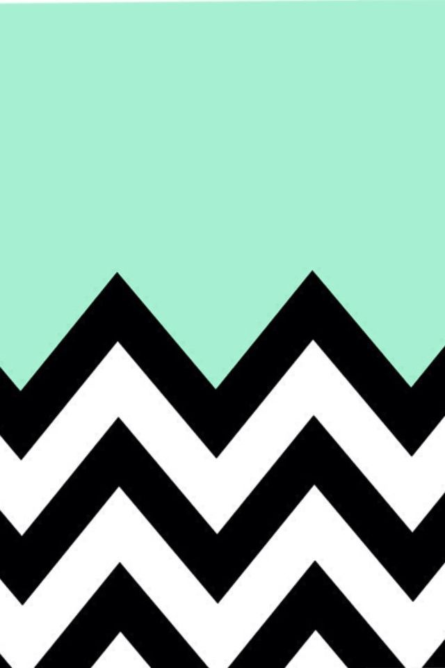 Love This Mint Zebra Zig Zag Wallpaper Zigzag Preppy Iphone IPhone Tumblr