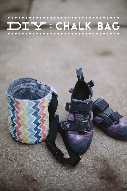 Diy Chalk Bag By Delightfully Tacky Via Flickr