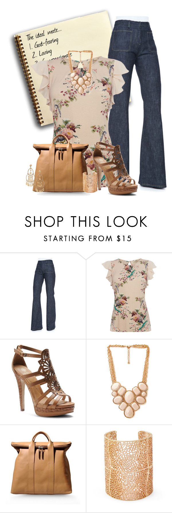 """Date Night"" by dstrn8 ❤ liked on Polyvore featuring Derek Lam, Oasis, Isolá, Forever 21, 3.1 Phillip Lim, Sole Society and Stella & Dot"