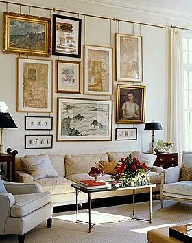Decorating With Salon Walls French Art Gallery Style Decor Gallery Wall Interior Design