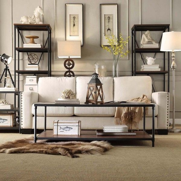 INSPIRE Q Harrison Industrial Rustic Pipe Frame Accent