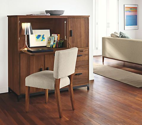 Linear Office Armoire Collection Is Functional Wood Office Furniture And  Includes A Stylish Modern Desk Armoire.