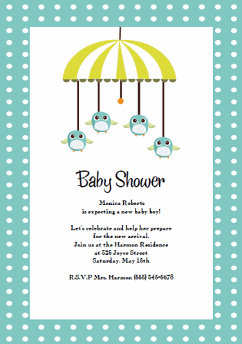 Modern Baby Shower Invitation  Graphic Design