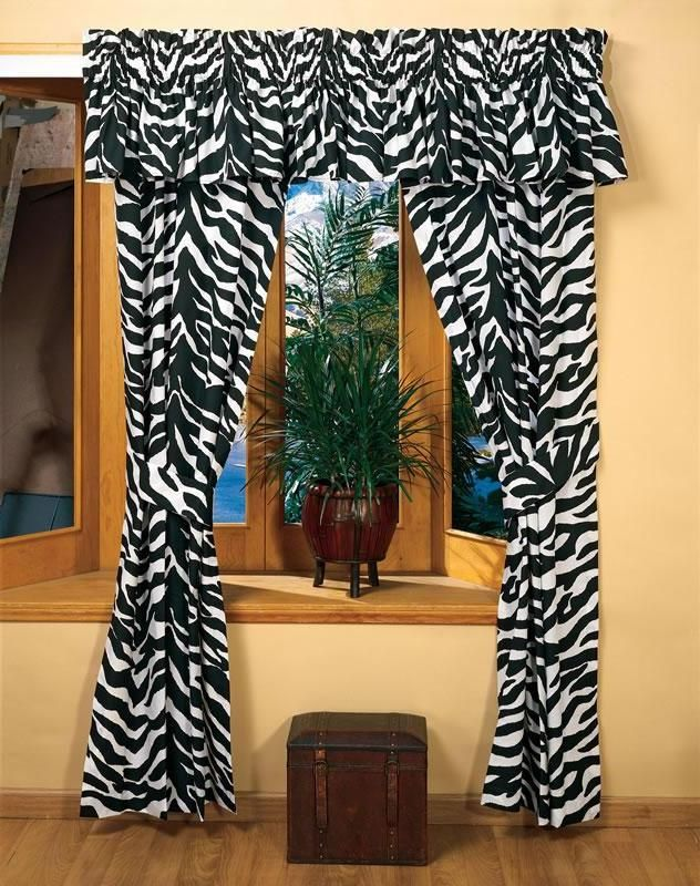 Black and white zebra curtains