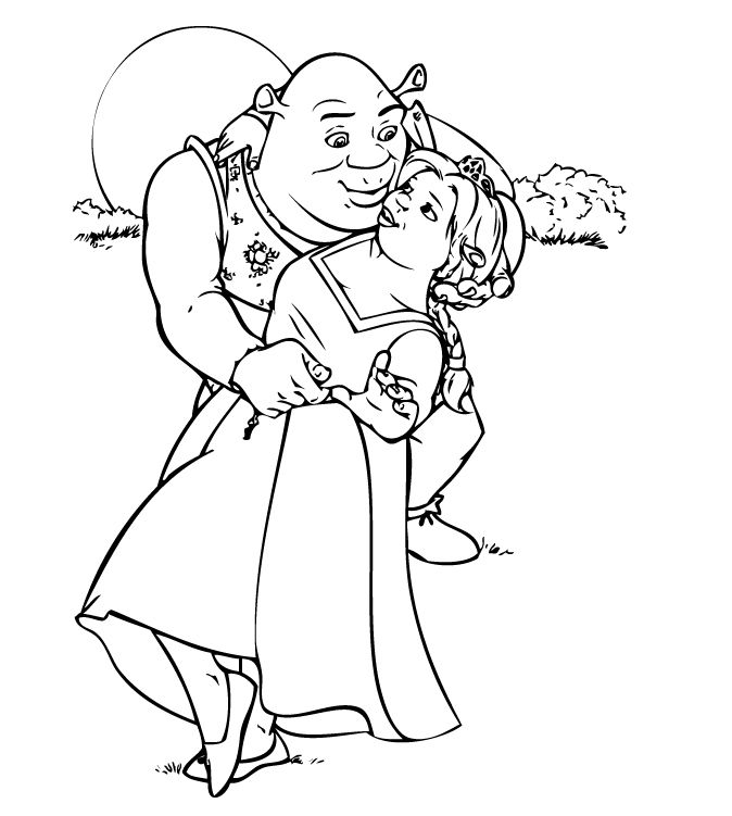 Shrek Printable Coloring Pages Disney Coloring Pages Adult