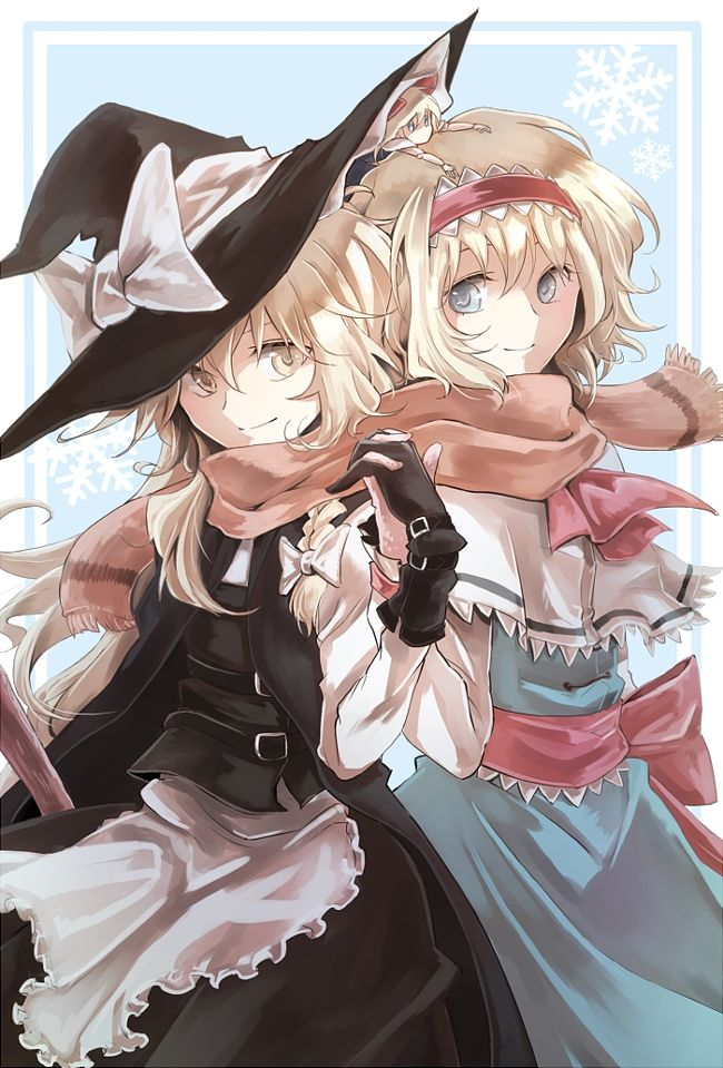 Note the doll under Marisa's hat.