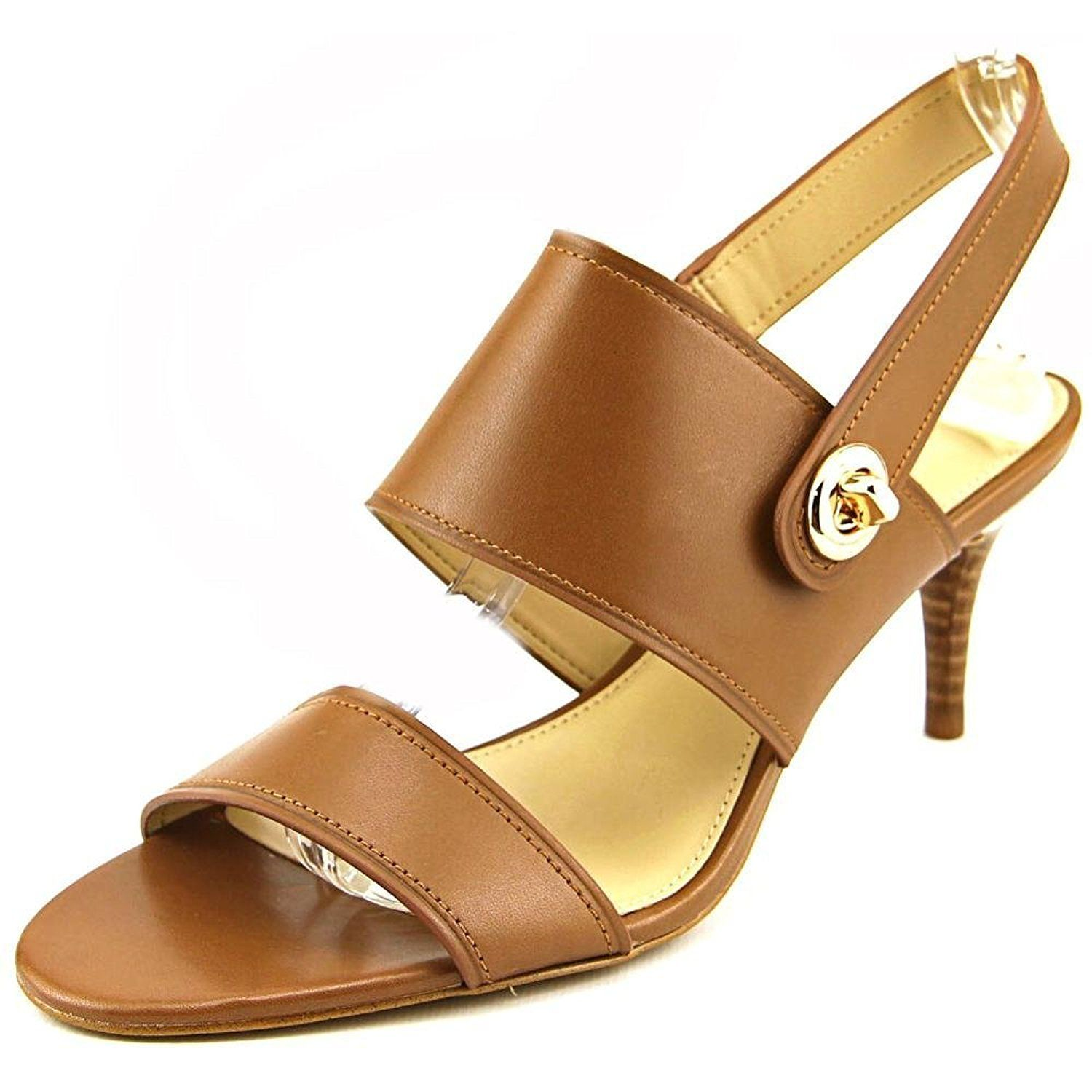 COACH LINK LEATHER DRESS SANDALS