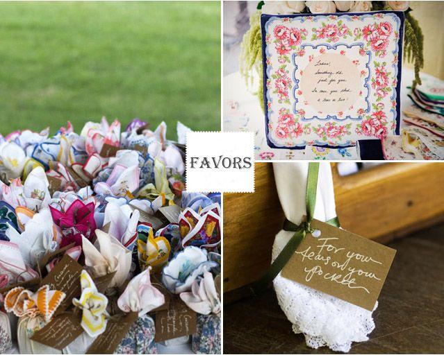 Wedding Handkerchief Favors Bridesmaid Gift