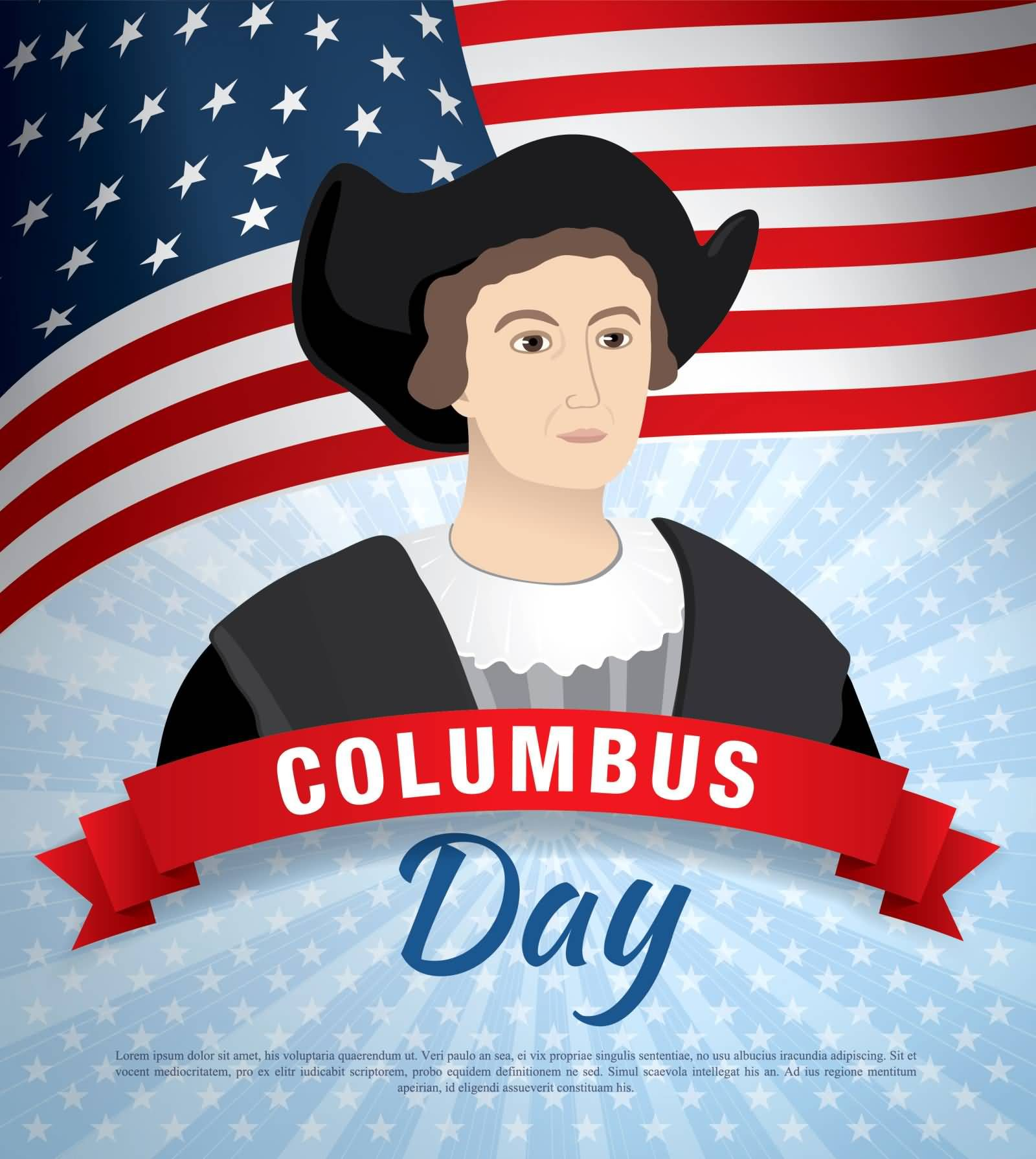 Columbus Day Christopher Columbus Clipart Image