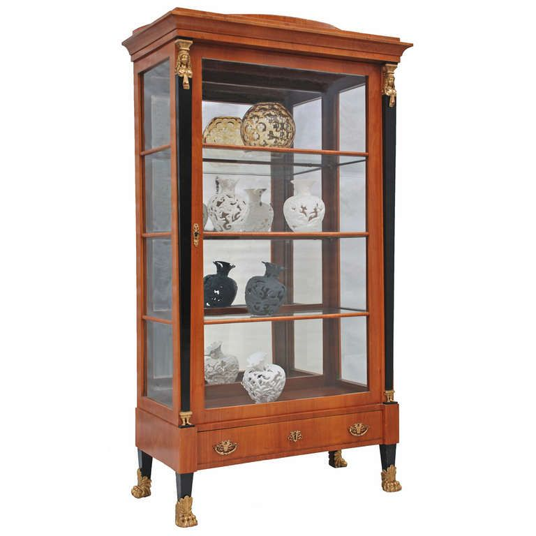 Biedermeier Style Cherry Wood Display Cabinet From A Unique Collection Of Antique And Modern Vitrines