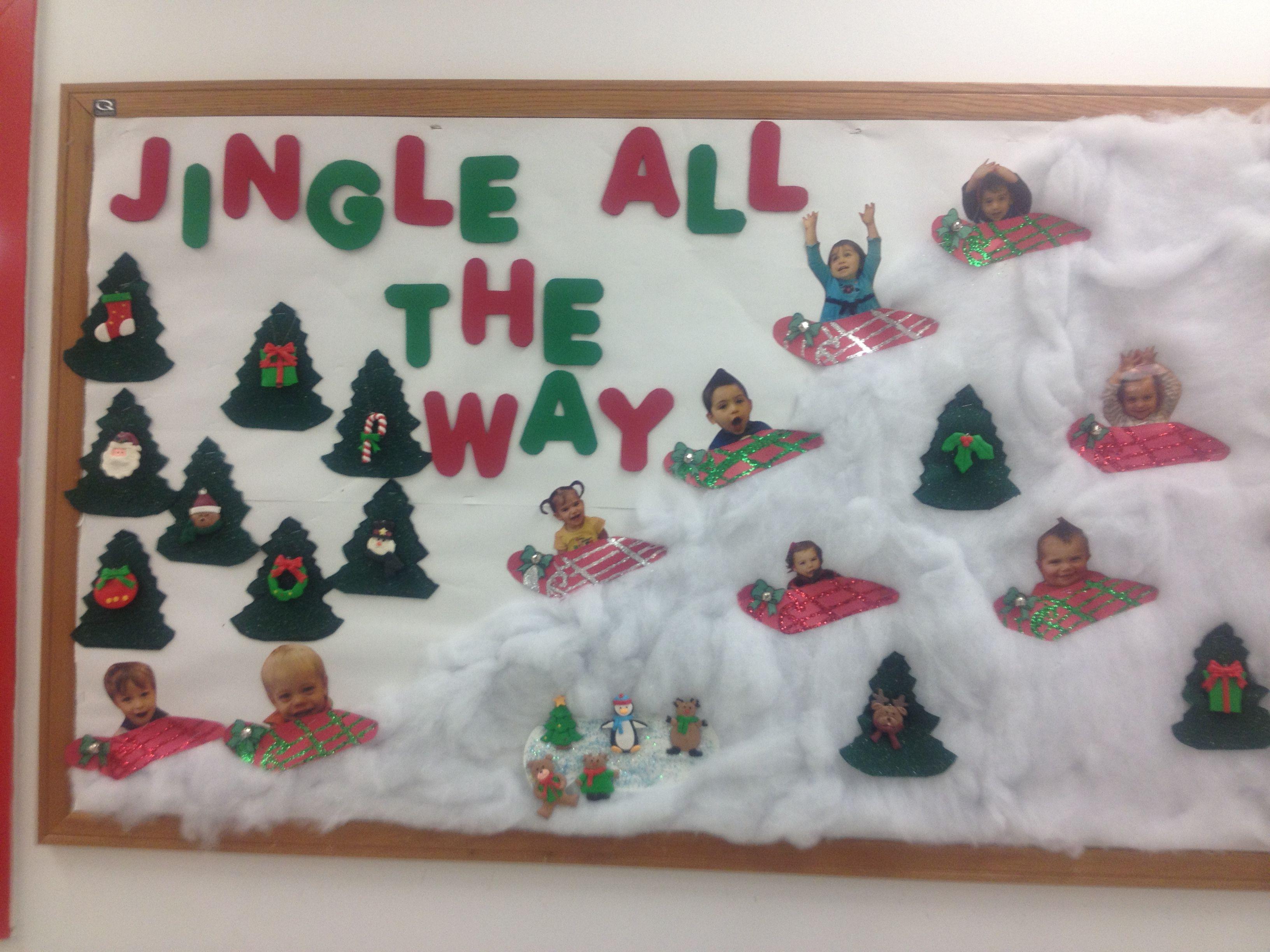 Christmas Toddler Bulletin Board Boards