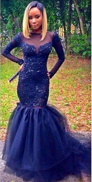 royal blue mermaid prom dresses - Google Search | |. Black Prom ...