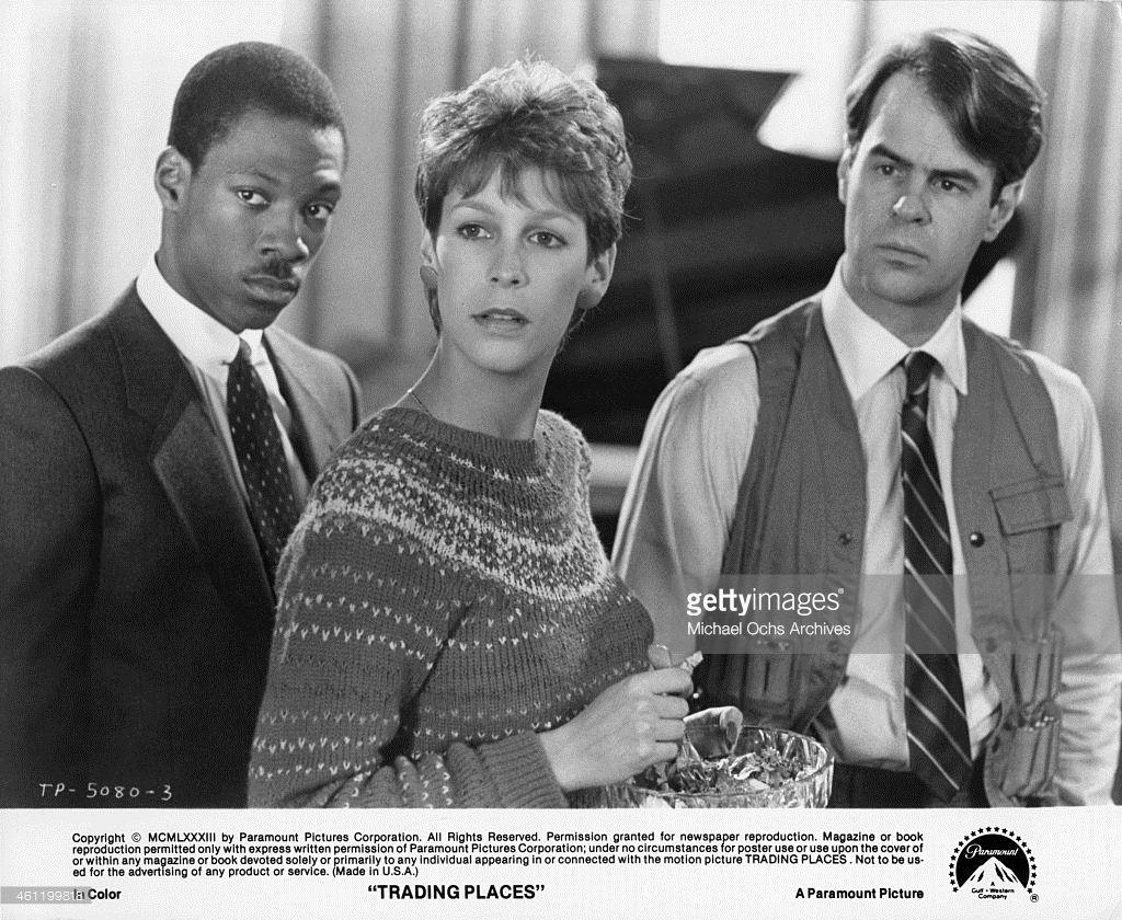 Eddie Murphy Jamie Lee Curtis And Dan Aykroyd In A Scene From The Jamie Lee Curtis Love Film Trading Places