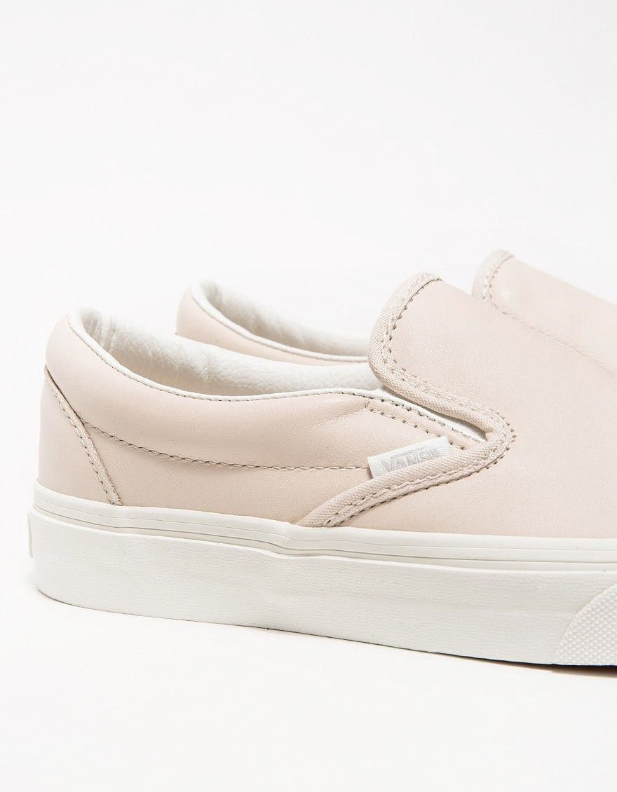 53bcbe5ebc The Hue    Whispering Pink Vans Leather Slip-Ons.