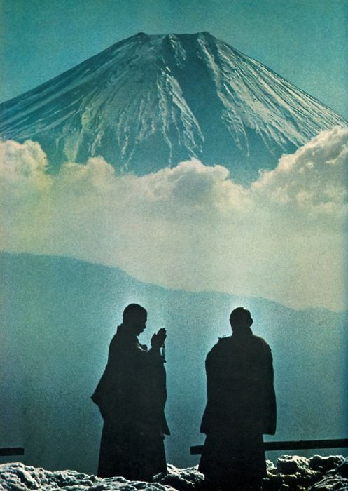 Prayers to the sacred volcano