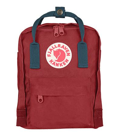 kanken mini ox red royal blue