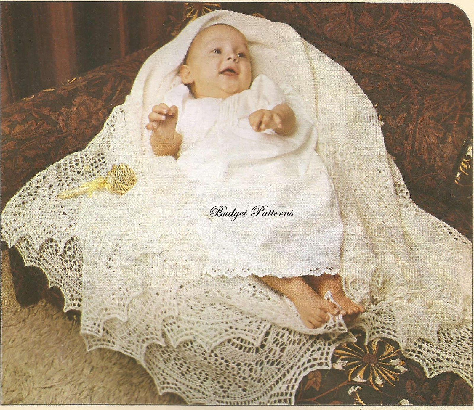 BABIES VINTAGE 2 ply COBWEB LACE SHETLAND SHAWL KNITTING PATTERN ...