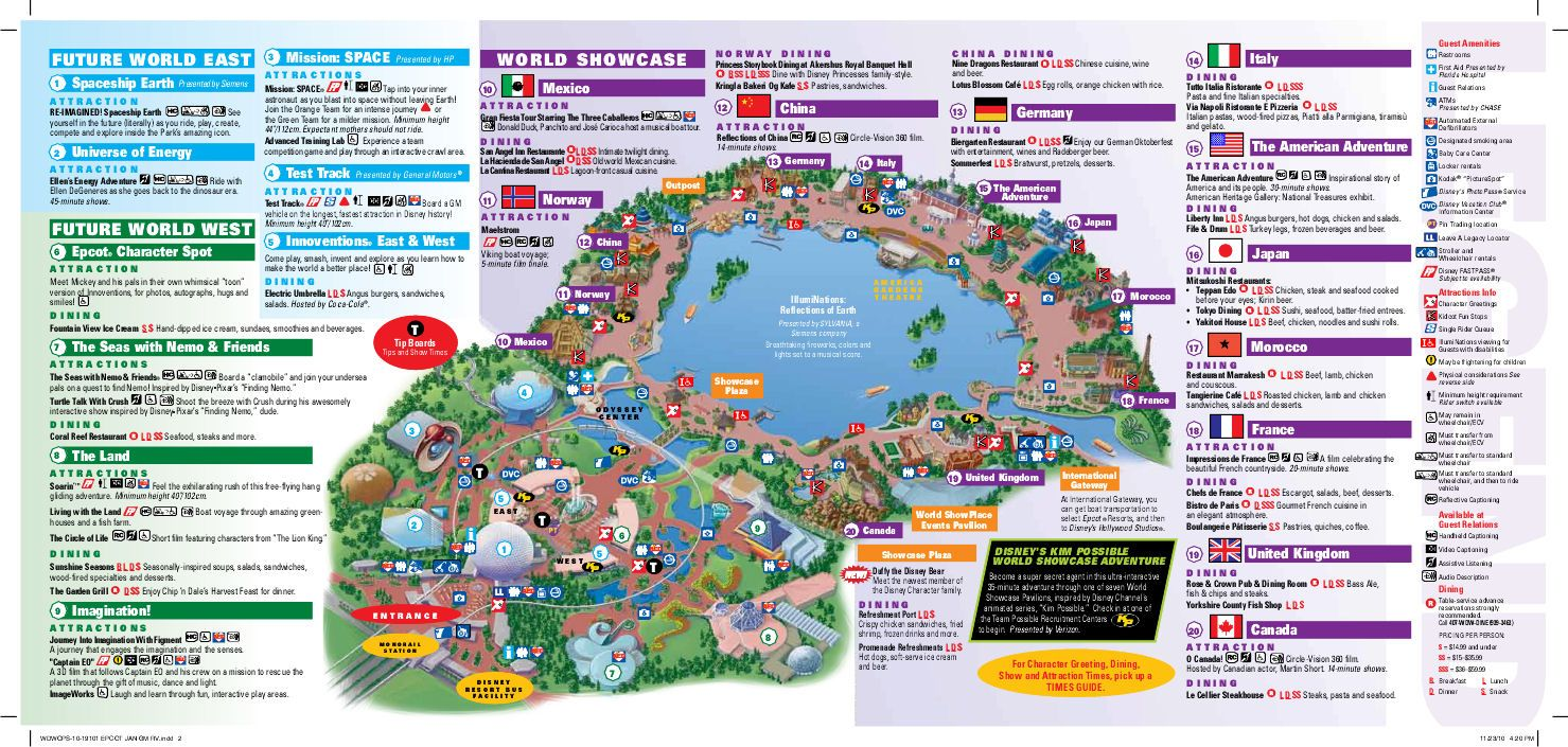 Epcot Rides Map EPCOT map | WDW    EPCOT | Disney world map, Epcot map, Disney map