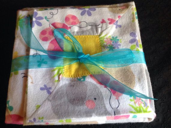 Flannel Receiving Blanket by GrandmaTalleysShop on Etsy, $23.99