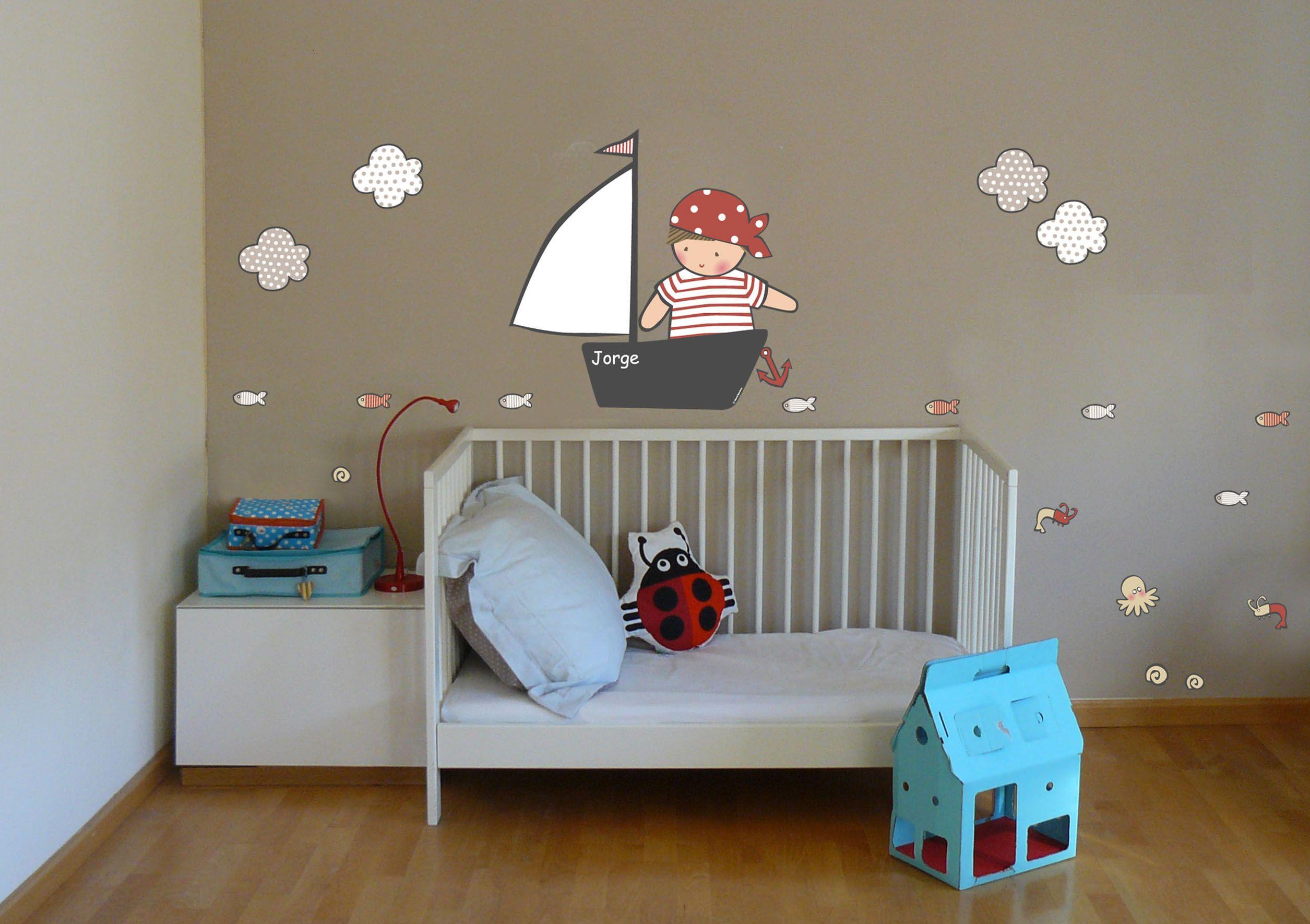 Habitaciones infantiles vinilo infantil de stencil barcelona decoraci n infantil vinilo - Cortinas infantiles barcelona ...