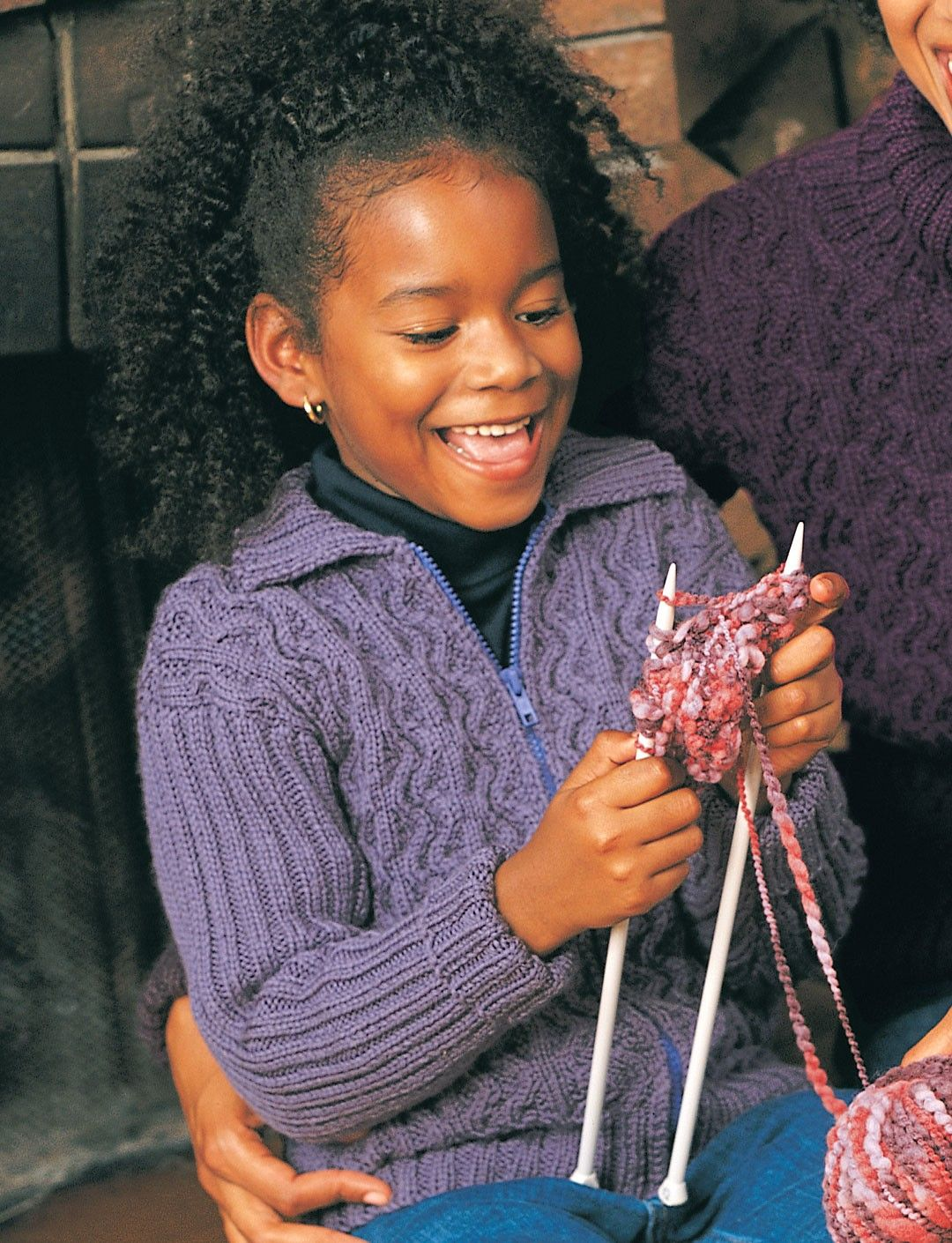 Yarnspirations.com - Patons Cables and Ribs (child) - Patterns ...
