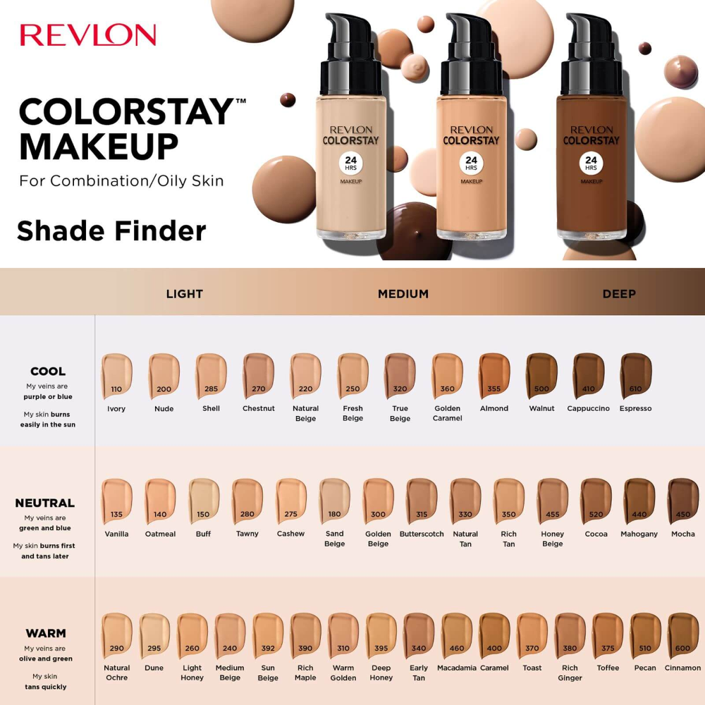 Revlon ColorStay Make-Up Foundation for Combination/Oily Skin (Various Shades) | BeautyExpert