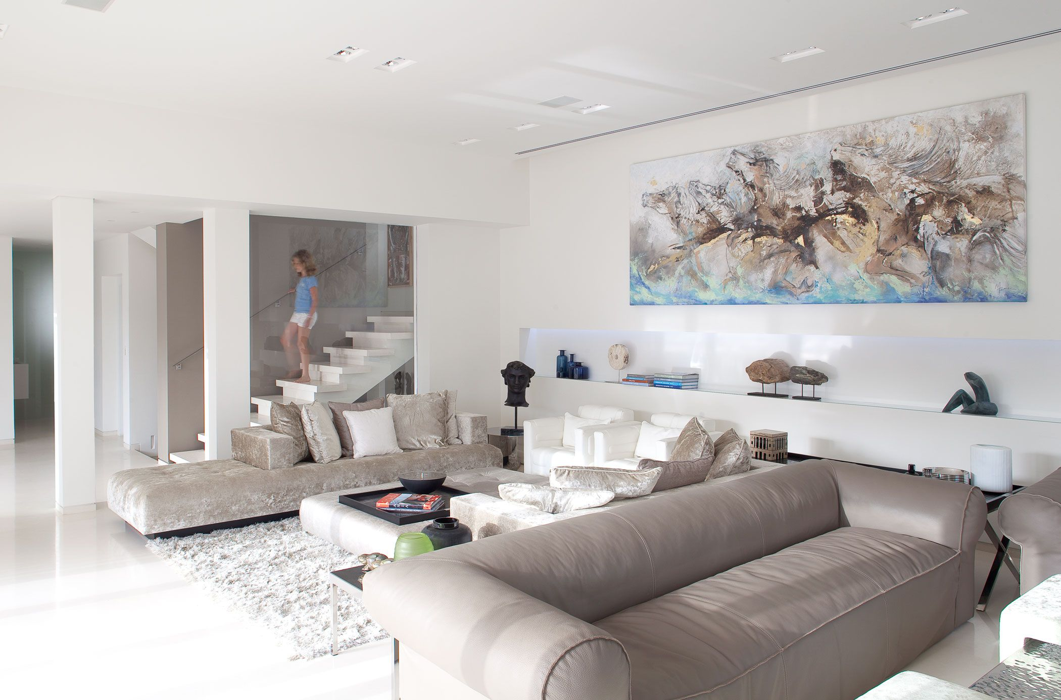 Entzuckend 70 Moderne, Innovative Luxus Interieur Ideen Fürs Wohnzimmer   Ledersofa  Samtsofa Weiss Ausstattung Design Wohnbereich