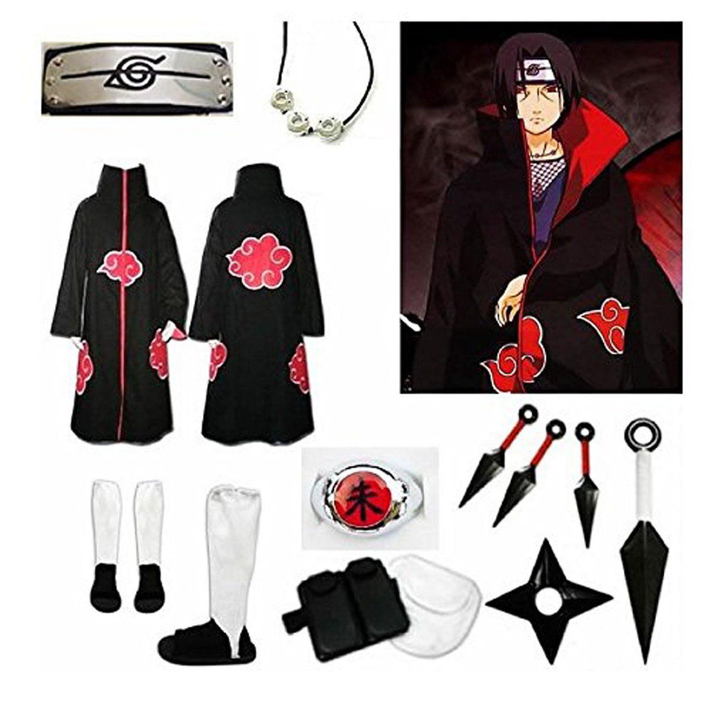 "Set of accessories anime /""Naruto/"" Akatsuki Cosplay Sasuke Uchiha Itachi Clothing"