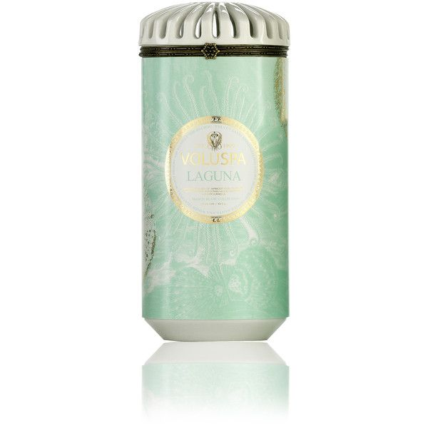 Ceramica Alta Candle in Laguna design by Voluspa (245 SEK) ❤ liked on Polyvore featuring home, home decor, candles & candleholders, candles, scented candles, colored candles, voluspa, voluspa candles and fragrance candles