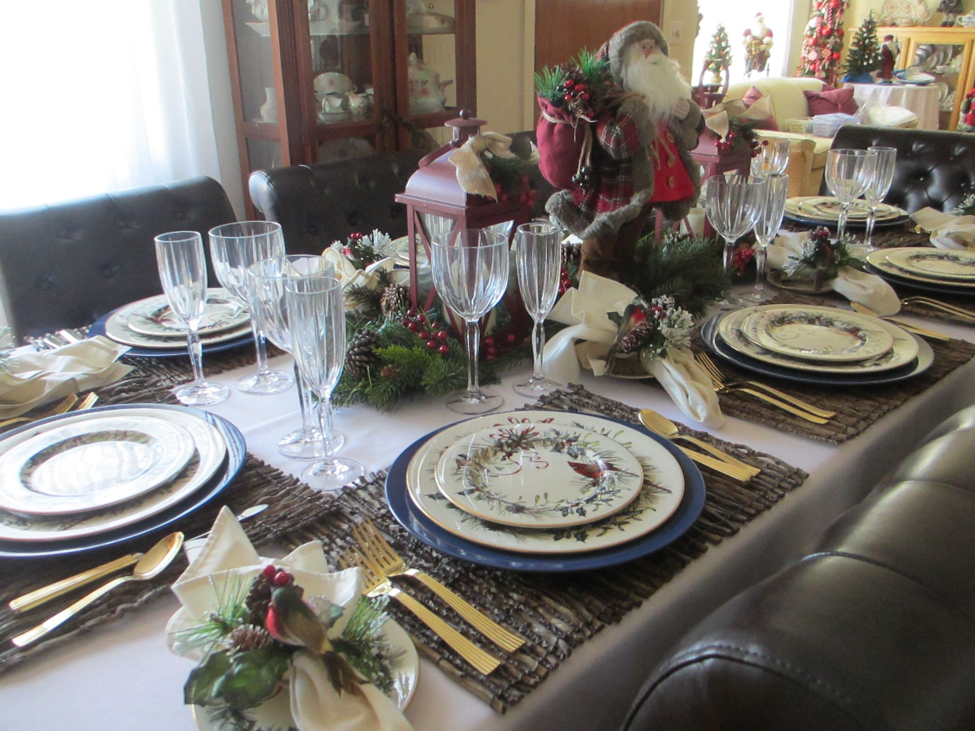 Rustic Christmas Tablescape Using Lenox Winter Greetings