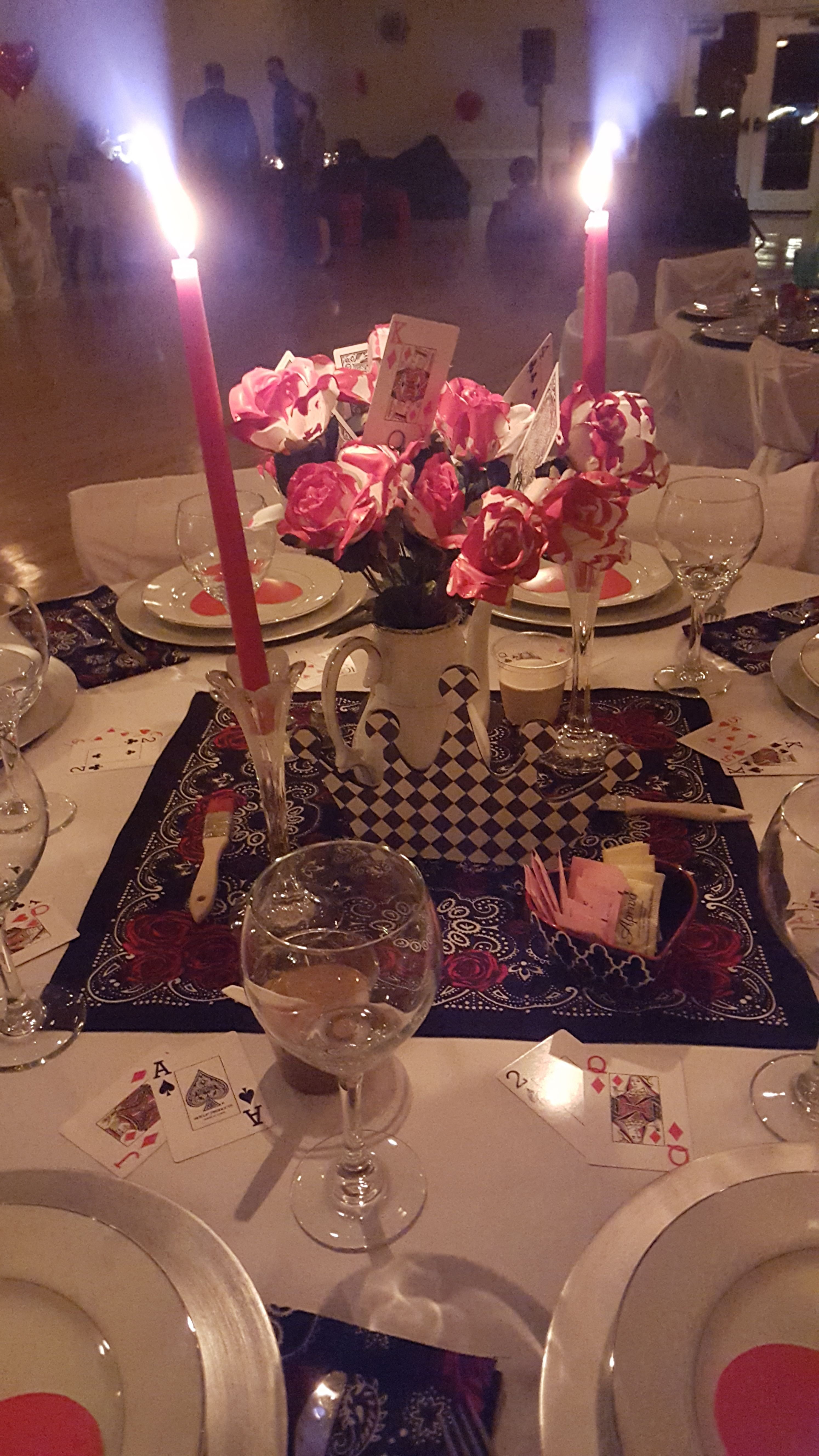 Wonderland Ball  Daddy Daughter Ball 2016 Queen of Hearts Place Setting