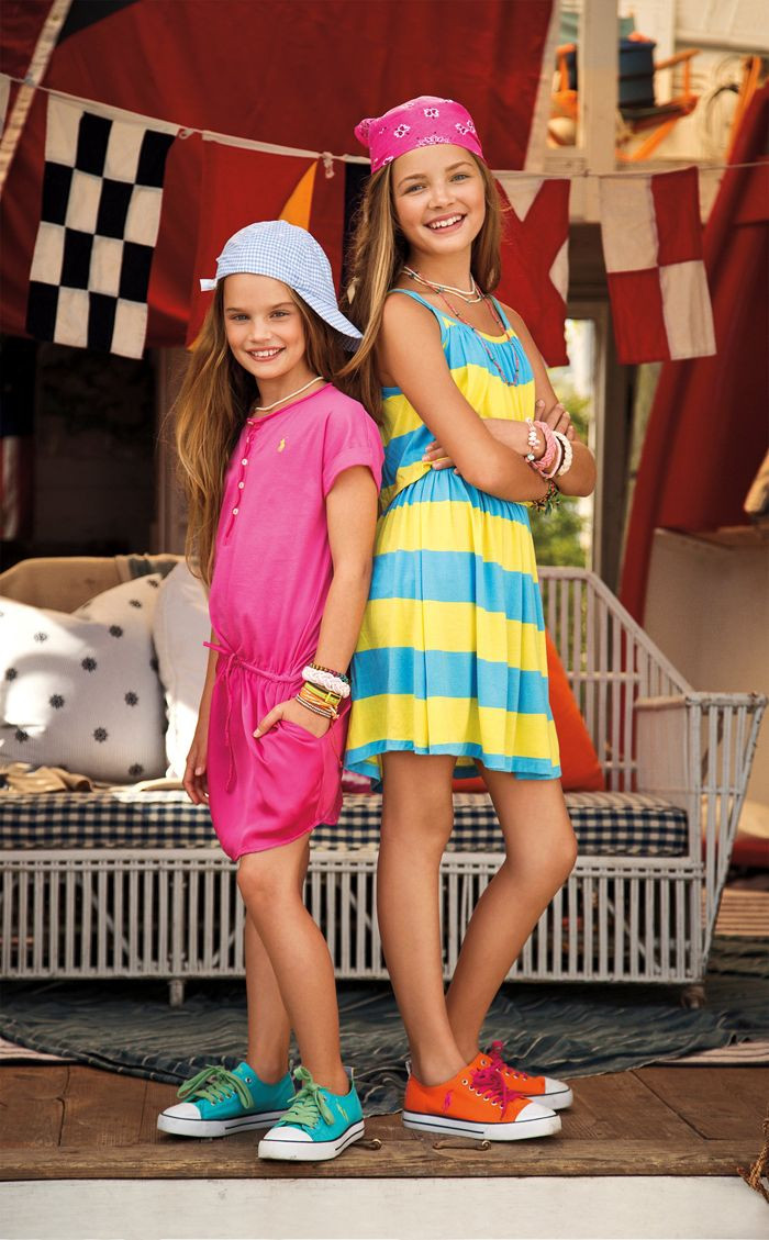 Transition to spring with bright stripes from RL Girls