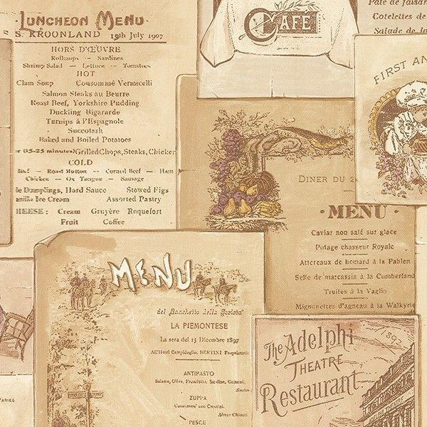 Vintage Cafe Menu In Multiple Shades Of Beige Brown Wallpaper Fk26954 Brown Wallpaper Wallpaper Cafe Menu Design