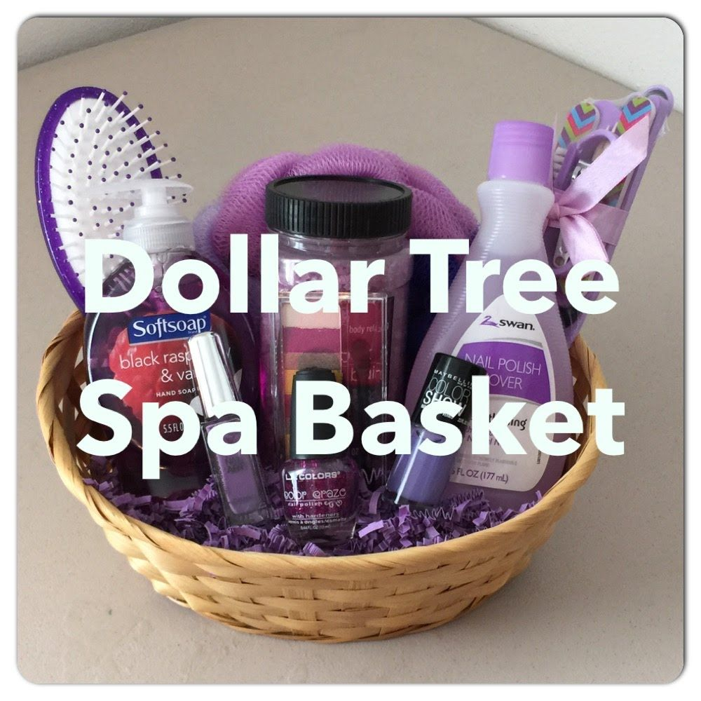 Diy Dollar Tree Spa Gift Basket For Mother S Day Valentines