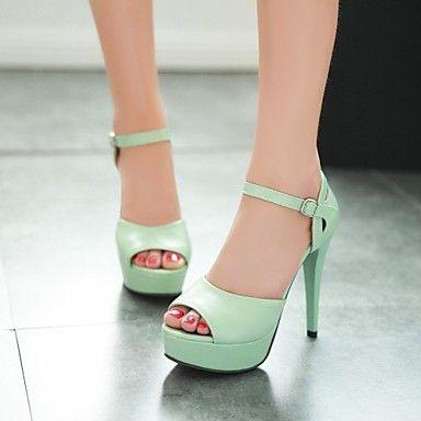 Semicuero Verano Zapatos Stiletto Vestido Y Tacón Para Mujer Fiesta 9YeWDbHE2I
